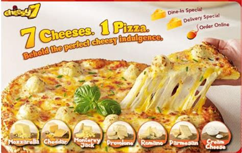 food of the world 7 cheese pizza sounds normal