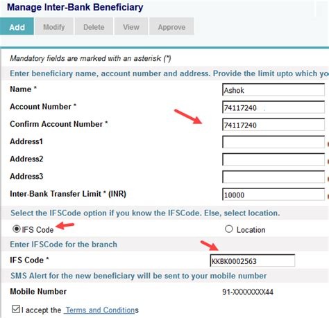 beneficiary bank code how to add beneficiary in sbi for fund transfer