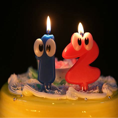 big number decorative candles digital candles cake
