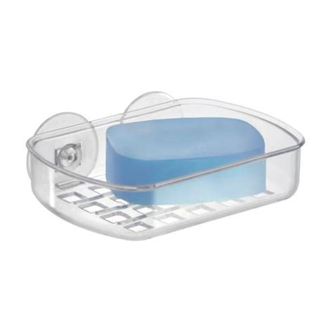 Suction Soap Dish interdesign clear suction soap dish at menards 174