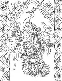 peacock coloring pages for adults coloring page world peacock portrait