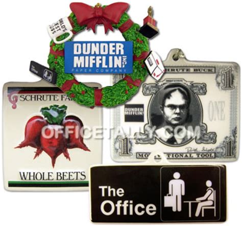 the office christmas holiday ornaments 2011 officetally