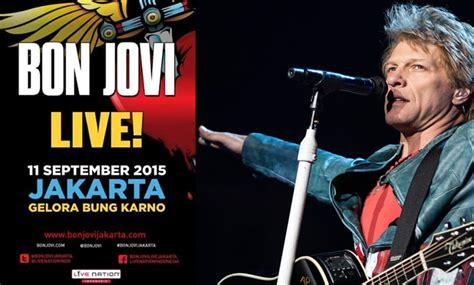 bon jovi konser jakarta apa yang membedakan konser bon jovi tahun 1995 dengan