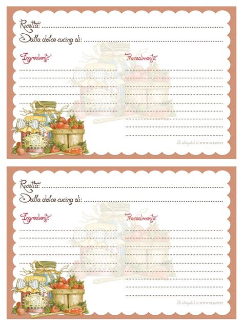 decorative printable postcards ricettari stabili primi secondi 03a jpg 952 215 1277