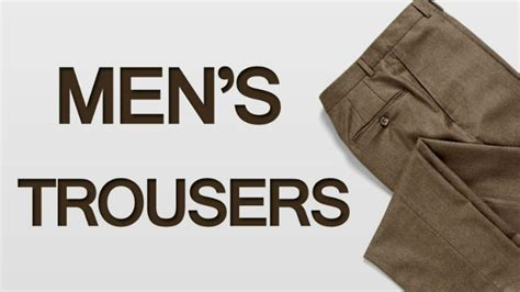 guini material styles for men men s trousers trouser style fit and fabric