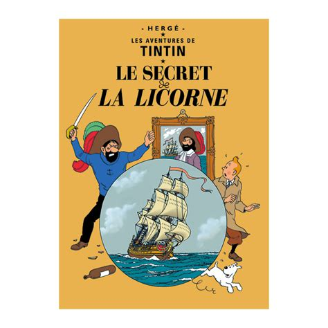 Poster Tintin Tintin En Amerique 40x60cm le secret de la licorne poster the tintin shop uk