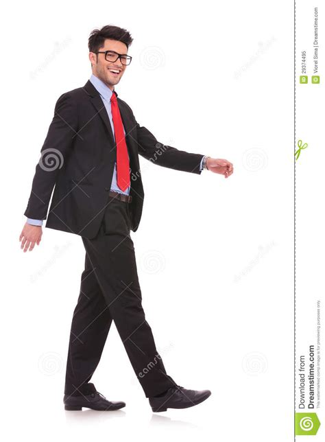 walking sideways pointing to side in pocket royalty free stock photo image models picture