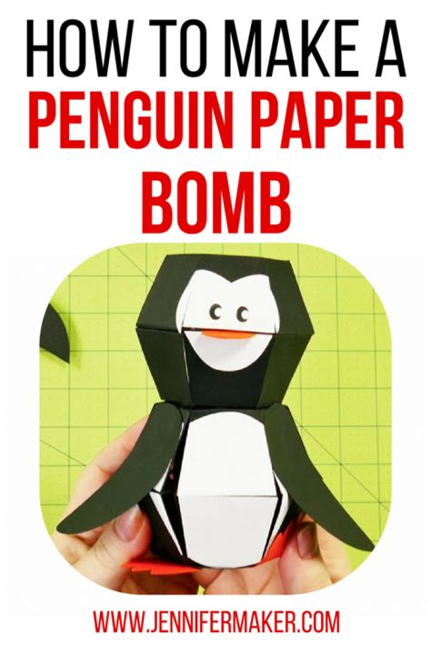 How To Make Amazing Paper Toys - penguin paper bomb amazing pop up maker