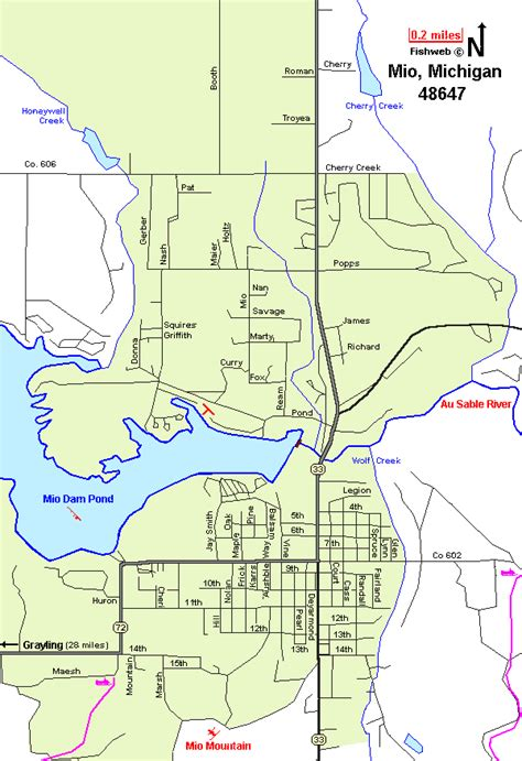 mio mi pequeno mio 8426134440 oscoda map oscoda county michigan interactive
