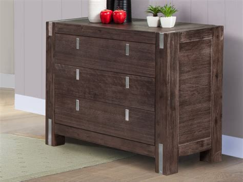 Commode Wenge by Commode Oakland 3 Tiroirs Bois Et M 233 Tal Weng 233