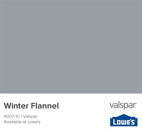 winter flannel from valspar for the home