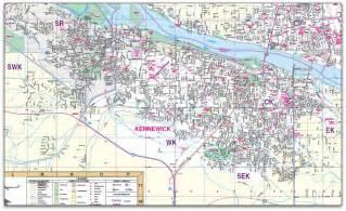 Washington City Map by Image Gallery Kennewick Wa Map