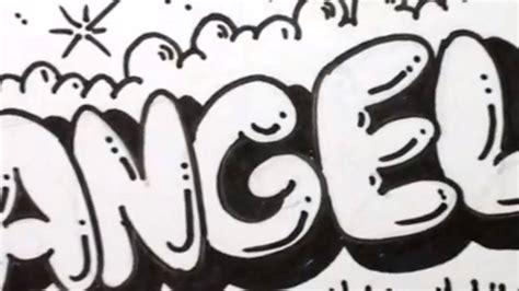 draw bubble letters angela  graffiti letters