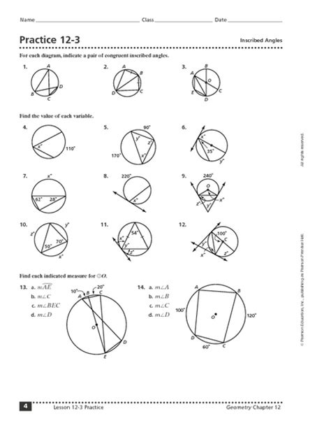 Inscribed Angles Worksheet Answers by Inscribed Angles Worksheet Vintagegrn