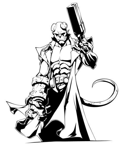 hellboy ink by puciek on deviantart