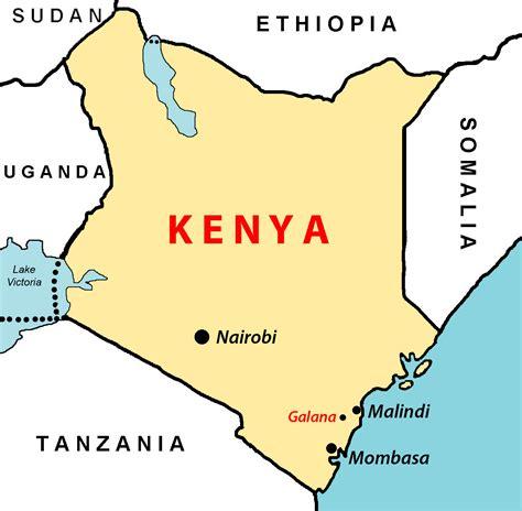 map of kenya africa kenya the of eastafrica