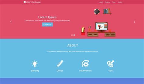 best themes design color flat design theme prepbootstrap