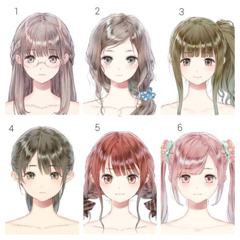 Anime Hairstyles 636 best hairs anime images on anime hair
