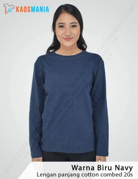 Kaos Raglan Lengan Panjang Navy Biru harga kaos polos grosir murah bahan berkualitas 100 cotton combat