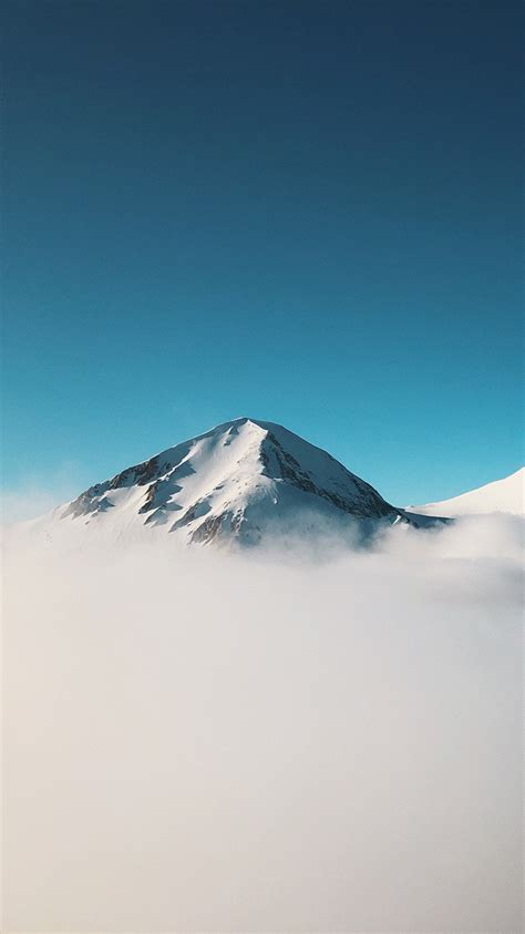 minimalist mountain  clouds iphone wallpaper