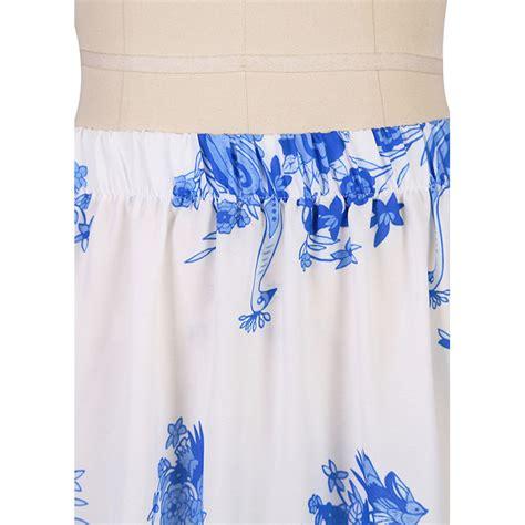 s summer flower print high waist maxi skirt n14108