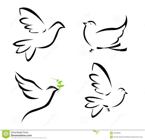 illustration of flying dove stock vector image 10556602
