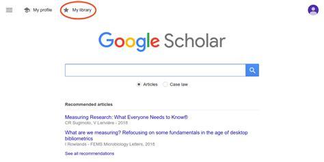 google scholar blog