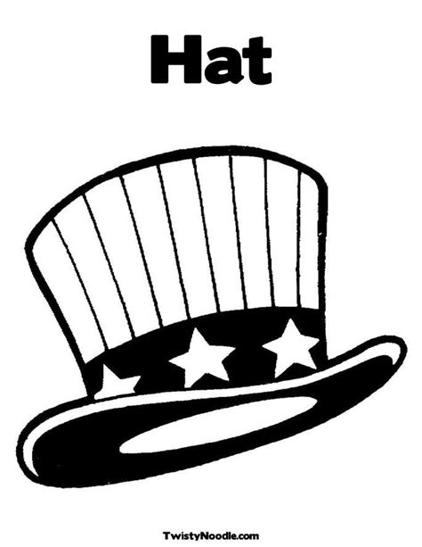 Top Hat Coloring Page Coloring Home Usa Hat Coloring Pages Usa