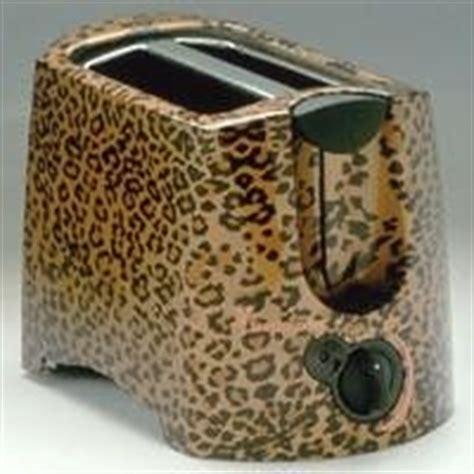 Leopard Print Toaster kitchen on leopard prints plastic cutting