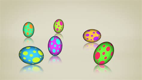 animated easter egg rolling one by one stock footage video