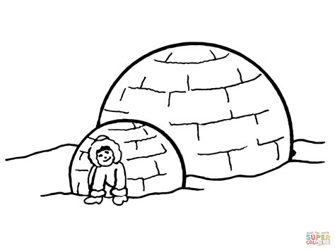 igloo coloring page free igloo coloring pages cake ideas and designs