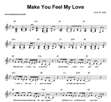 adele make you feel my love zaycev adele make you feel my love 악보 뮤직스코어 악보가게