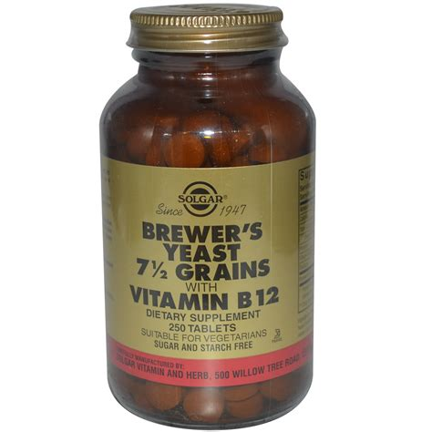 vitamin b12 for dogs solgar brewer s yeast 7 1 2 grains with vitamin b12 250 tablets iherb