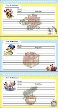 printable disney recipe cards disney christmas on pinterest disney christmas