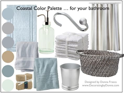 bathroom color palettes a coastal color palette for your bathroom decorating by