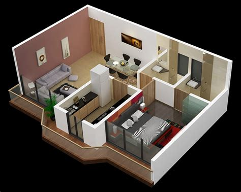 25 One Bedroom House Apartment Plans One Bedroom Apartment Design