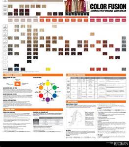 redken color fusion color charts charts and colors on