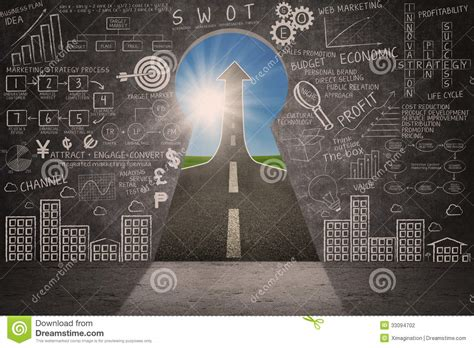doodle sign up business marketing success strategy doodle and arrow sign