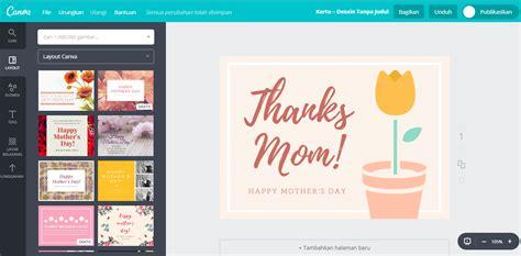 cara membuat kartu ucapan hari ibu buat desain kartu ucapan hari ibu dengan mudah