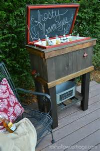 how to build a wood deck cooler fox hollow cottage
