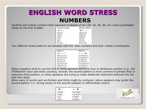 a good english pronunciation word stress patterns and english word stress 2012