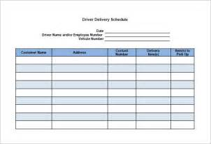 delivery schedule template 8 free word excel pdf