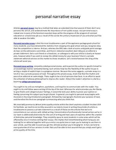 personal research paper here are some guidelines for writing a narrative essay