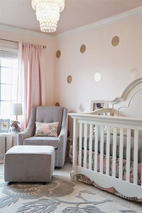 rose themed baby room pink grey and gold glamorous girl s nursery
