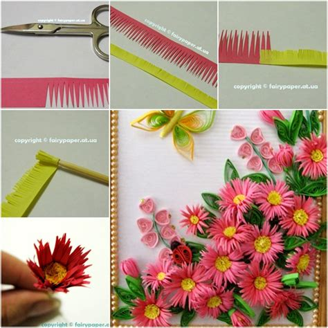 Paper Quilling How To Make Flowers - how to diy quilling flower framed wall fab diy