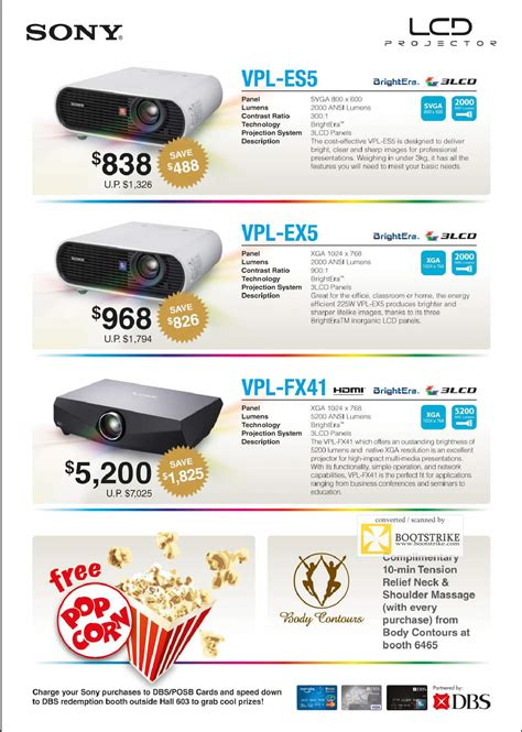 Projector L Price List by Sony Lcd Projectors It Show 2009 Price List Brochure Flyer