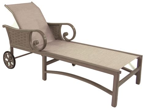 cast aluminum chaise lounge castelle riviera sling cast aluminum adjustable chaise