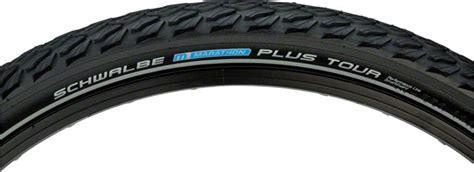 schwalbe marathon   tire    wire bead black  reflective sidewall
