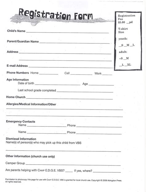 docs registration form template doc 10201320 paper registration form template