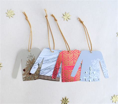 diy christmas sweater gift tags zakka life